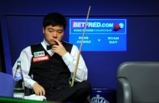 Ding Junhui slams the Crucible crowd after losing to Ryan Day in Sheffield