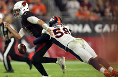 Broncos thrash Cardinals to end losing streak