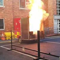 Dublin firefighters stage explosive demonstration to warn kids of dangers of fireworks