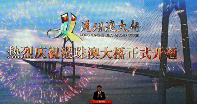 World's longest sea bridge - that cost an estimated €17 billion - officially opened