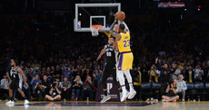 LeBron delivers with last-gasp three-pointer, but then misses two free throws as Lakers lose again