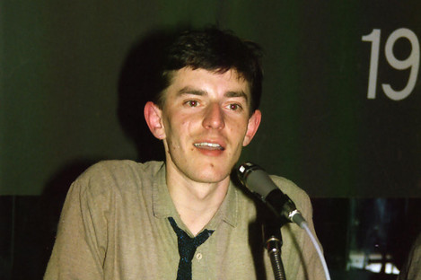 Tonie Walsh at the National Gay Federation's annual conference at the Hirschfeld Centre, 1985.