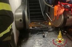 Around 20 football fans injured after apparent escalator malfunction