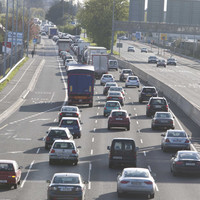 Traffic on M50 northbound at a standstill following crash and earlier breakdown