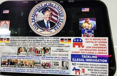 Man charged with sending bombs to Democrats had plastered van with pro-Trump signs