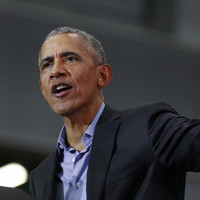 Obama slams Trump for 'making stuff up'