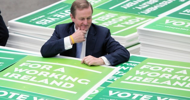 Caption competition: What does Enda think of his posters?