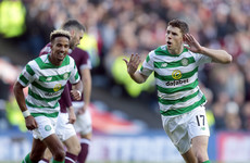 Celtic break Hearts to reach Scottish League Cup final
