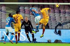 Mertens grabs Napoli draw with Roma to cut Juventus' lead at the top of Serie A