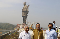 The world's largest statue - twice the size of the Statue of Liberty - unveiled amid protests in India