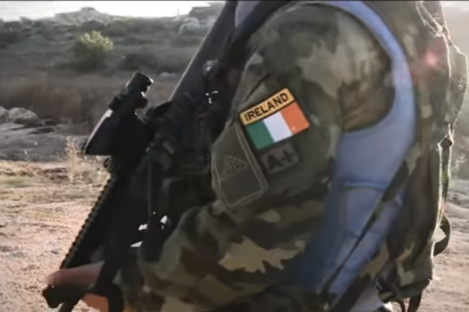A still from an Irish Defence Forces video on peacekeeping