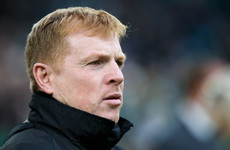Neil Lennon struck by object as Edinburgh derby turns ugly
