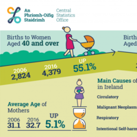 Number of births continues to decrease as average age of mothers rises