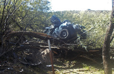 US woman found alive 6 days after car lands on tree