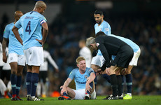Fresh knee problem rules De Bruyne out of Manchester derby