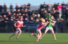 Young hurler has hurl broken over him while attempting to block shot with his bare hands