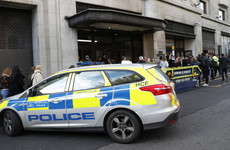 A double-stabbing at Sony's London HQ led to armed police evacuating the building