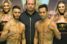 Burnett and Donaire safely under the bantamweight limit for tomorrow's world title clash