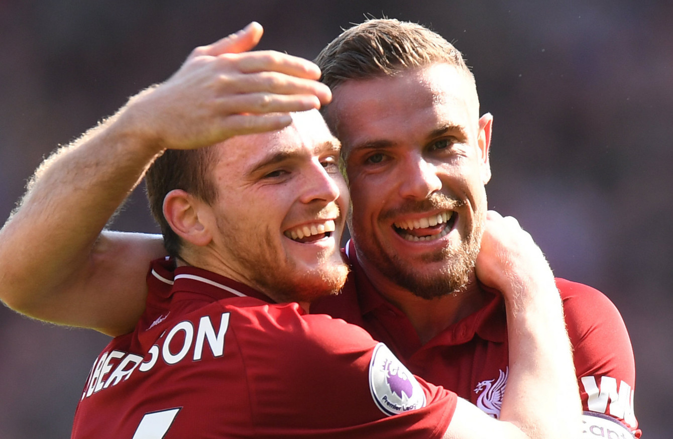 Image result for andy robertson and jordan henderson