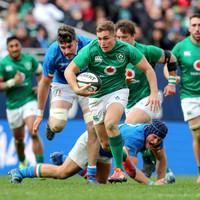 Superb Larmour hat-trick helps Schmidt's Ireland to big win over Italy