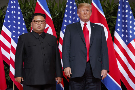 North Korea leader Kim Jong Un and US president Donald Trump
