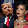 Rihanna hits out at Trump following reports of her music being played at his 'tragic rallies'