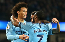 Sane 'on the right side' of Manchester as City star dismisses United links