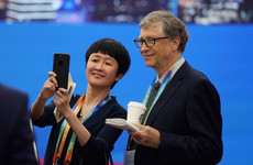 Bill Gates brings jar of human waste on stage to make point about lack of toilets in developing world