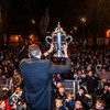 Back in The Town! Great scenes last night as league and cup double winners land home