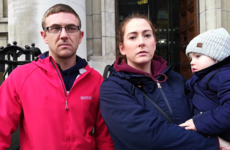 'We work, we pay tax': 'Hidden homeless' family protest against sale of Nama site