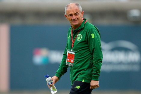 Noel King pictured before the Republic of Ireland U21 side's recent game against Germany in Tallaght.