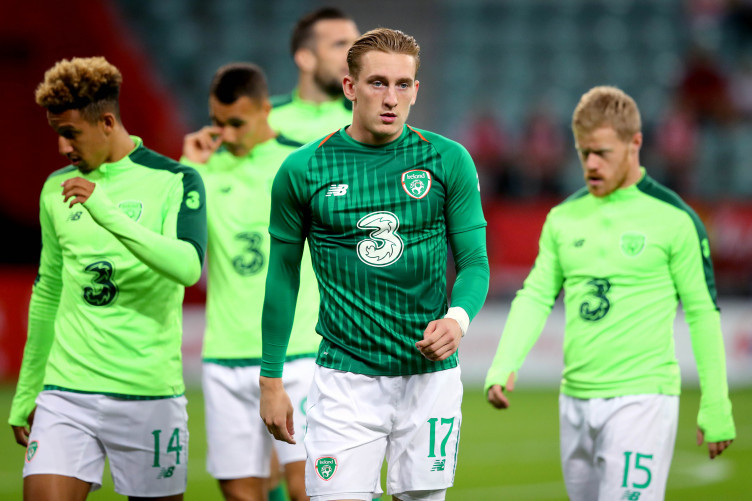 Ronan Curtis pictured before the Republic of Ireland's recent friendly against Poland.