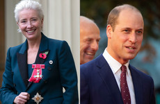 Emma Thompson asked Prince William for a smooch when she was getting her damehood ... it's The Dredge