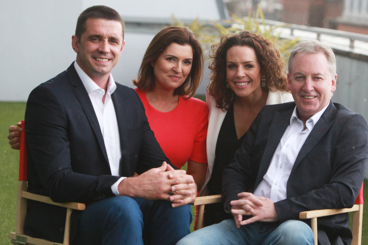 Paul Williams (far right) at the launch of Newstalk's 2016 autumn schule, with Alan Quinlan, Colette Fitzpatrick and Sarah McInerney.