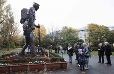 Remembering World War I: The Hauntings Soldier keeps watch at St Stephen's Green
