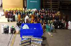 1,400 litres of wine, 76 litres of spirits and 7,780 cigarettes seized at Dublin Port