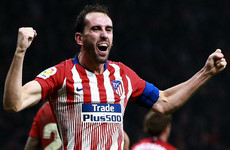 Simeone sticks injured Godin up front, Godin scores late winner
