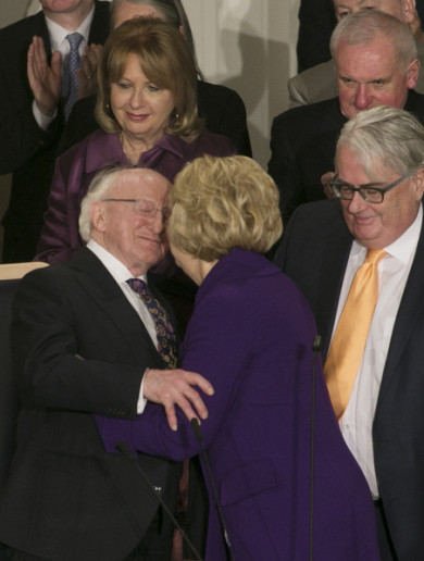 Michael D Higgins has been sworn in for a second term as President of Ireland