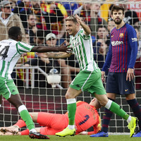 Messi scores twice on return but Barca stunned at Camp Nou by four-goal Betis