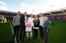 England captain dedicates 100th cap to seriously-ill footballer husband