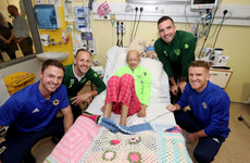 Ireland and Northern Ireland footballers team up to visit Crumlin Children's Hospital
