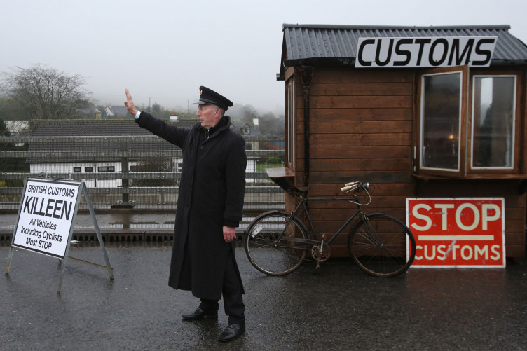 There won't be a hard border, according to the text that has been drafted