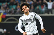 Leroy Sane scores first international goal for Germany as Löw's men stroll to victory