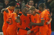 Liverpool star on target as Netherlands stun world champions and relegate Germany