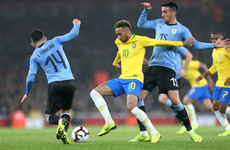 Neymar goal sees Brazil earn win over Uruguay in feisty friendly