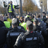 One killed after panicked driver rams into crowd at French fuel protests