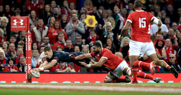 Liam Williams marks his 50th Wales cap with this magnificent piece of finishing