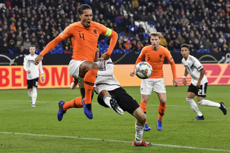Virgil Van Dijk in action for the Netherlands on Monday night.