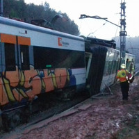 One killed and 44 injured as landslide causes commuter train to derail outside Barcelona