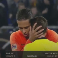Van Dijk explains why he consoled referee at the end of Germany draw